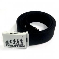 Cintura in tela con fibbia in alluminio