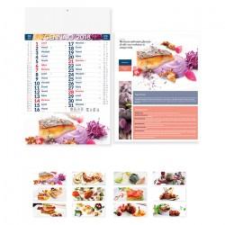 Calendario Cucina Stellata stampa sulla testata