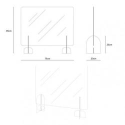 Barriera protettiva in plexiglass con supporti IVA inclusa